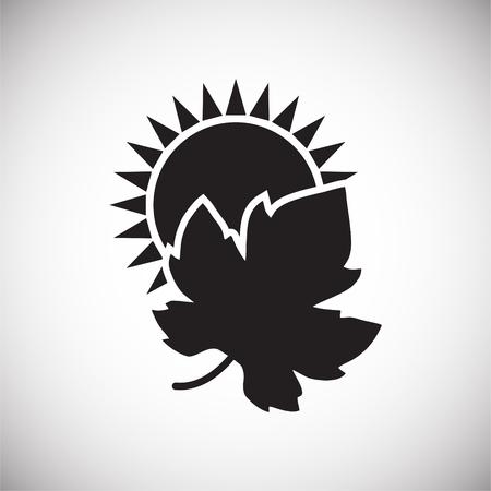 Icono relacionado con el vino en el fondo para diseño gráfico y web. Signo de vector simple. Símbolo del concepto de Internet para el botón del sitio web o la aplicación móvil