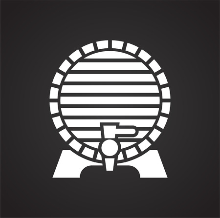 Wine related icon on background for graphic and web design. Simple vector sign. Internet concept symbol for website button or mobile app 일러스트