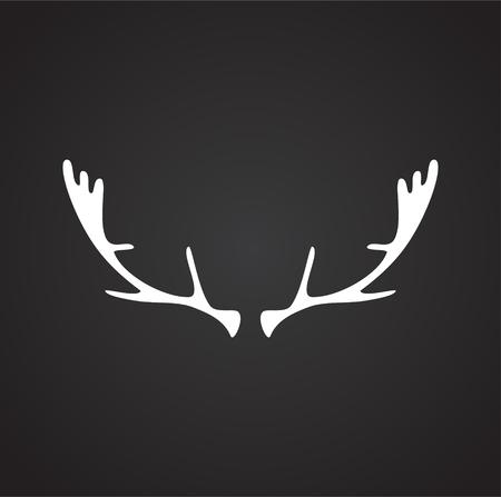 Animal Horn icon on background for graphic and web design. Simple vector sign. Internet concept symbol for website button or mobile app Ilustração