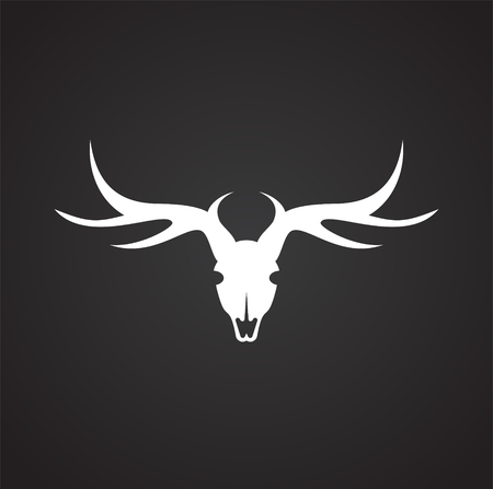 Animal skull icon on background for graphic and web design. Simple vector sign. Internet concept symbol for website button or mobile app