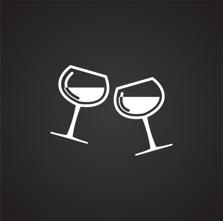 Wine related icon on background for graphic and web design. Simple vector sign. Internet concept symbol for website button or mobile app Illustration