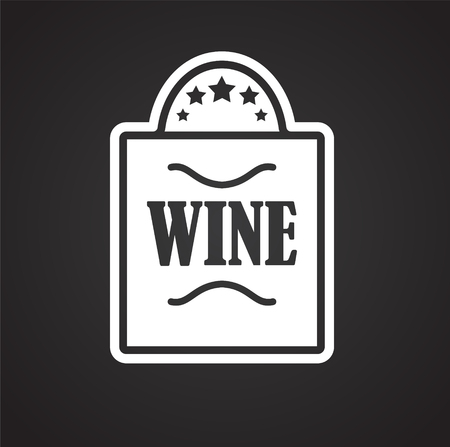 Wine related icon on background for graphic and web design. Simple vector sign. Internet concept symbol for website button or mobile app