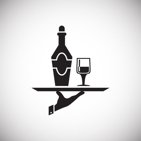 Wine related icon on background for graphic and web design. Simple vector sign. Internet concept symbol for website button or mobile app Vectores