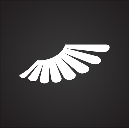 Wing icon on white background for graphic and web design. Simple vector sign. Internet concept symbol for website button or mobile app