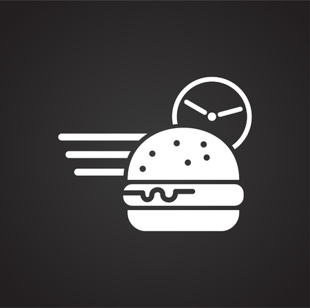 Delivery related icon on background for graphic and web design. Simple vector sign. Internet concept symbol for website button or mobile app