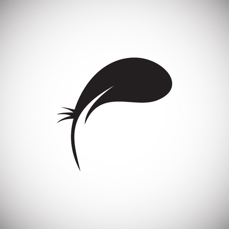 Feather icon on background for graphic and web design. Simple vector sign. Internet concept symbol for website button or mobile app Illusztráció