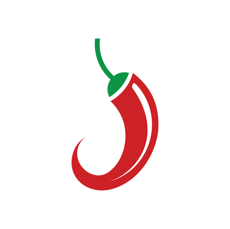 Red Hot pepper icon on background for graphic and web design. Simple vector sign. Internet concept symbol for website button or mobile app