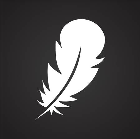 Feather icon on background for graphic and web design. Simple vector sign. Internet concept symbol for website button or mobile app Banque d'images - 122523422