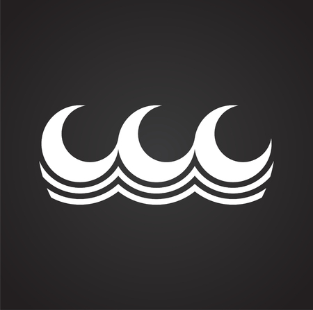 Waves icon on background for graphic and web design. Simple vector sign. Internet concept symbol for website button or mobile app