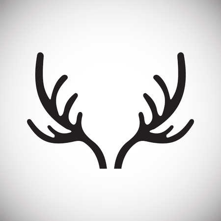 Animal Horn icon on background for graphic and web design. Simple vector sign. Internet concept symbol for website button or mobile app Ilustrace