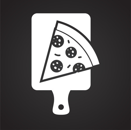Pizza related icon on background for graphic and web design. Simple vector sign. Internet concept symbol for website button or mobile app