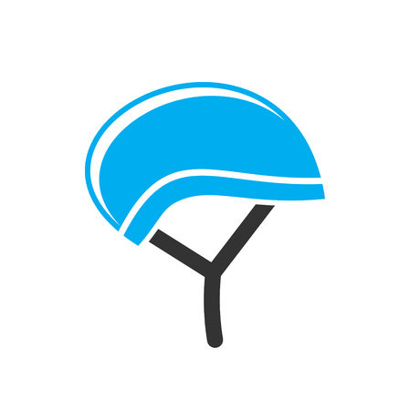 Bicycle helmet icon on background for graphic and web design. Simple vector sign. Internet concept symbol for website button or mobile app Illustration
