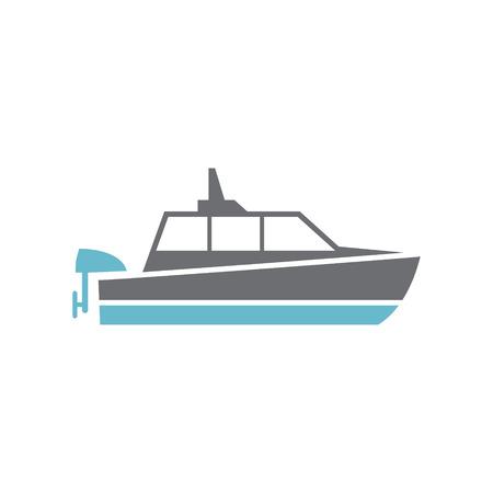 Schiffssymbol im Hintergrund für Grafik- und Webdesign. Einfaches Vektorzeichen. Internet-Konzeptsymbol für Website-Button oder mobile App Vektorgrafik