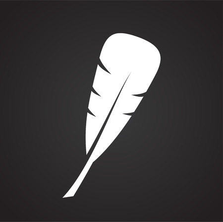 Feather icon on background for graphic and web design. Simple vector sign. Internet concept symbol for website button or mobile app