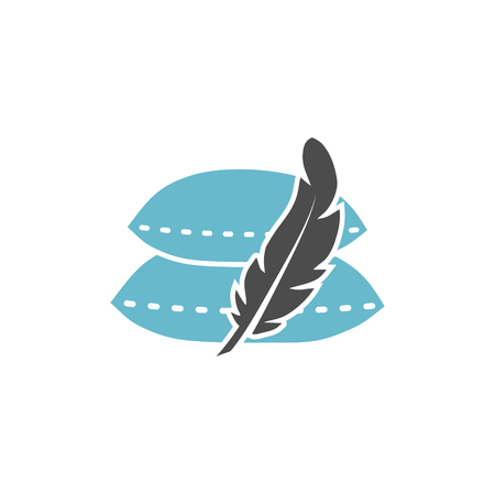 Feather icon on background for graphic and web design. Simple vector sign. Internet concept symbol for website button or mobile app Vectores