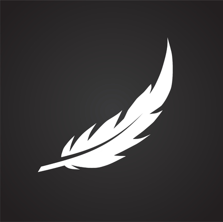 Feather icon on background for graphic and web design. Simple vector sign. Internet concept symbol for website button or mobile app Illustration