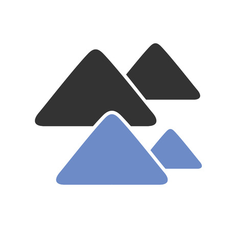 Mountain icon on background for graphic and web design. Simple vector sign. Internet concept symbol for website button or mobile app