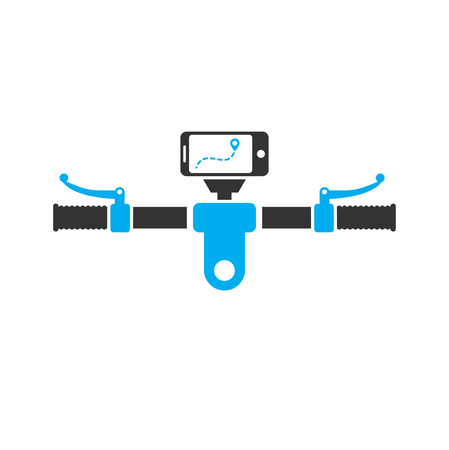 Bicycle bar icon on background for graphic and web design. Simple vector sign. Internet concept symbol for website button or mobile app