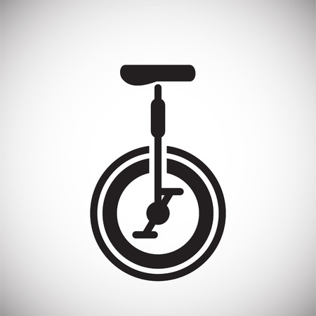 Bicycle icon on background for graphic and web design. Simple vector sign. Internet concept symbol for website button or mobile app