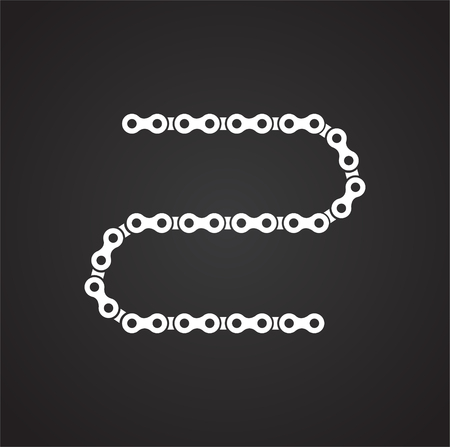 Bicycle chain icon on background for graphic and web design. Simple vector sign. Internet concept symbol for website button or mobile app. Vettoriali