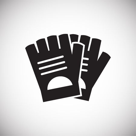 Bicycle gloves icon on background for graphic and web design. Simple vector sign. Internet concept symbol for website button or mobile app.