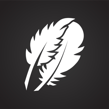 Feather icon on background for graphic and web design. Simple vector sign. Internet concept symbol for website button or mobile app. 免版税图像 - 123635936