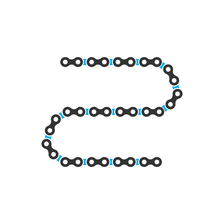 Bicycle chain icon on background for graphic and web design. Simple vector sign. Internet concept symbol for website button or mobile app