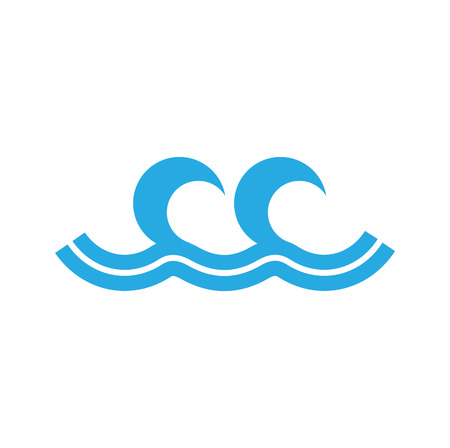 Waves icon on background for graphic and web design. Simple vector sign. Internet concept symbol for website button or mobile app. 向量圖像
