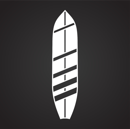 Surfboard icons on background for graphic and web design. Simple vector sign. Internet concept symbol for website button or mobile app.