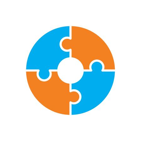 Icône de puzzle sur fond pour la conception graphique et web. Signe de vecteur simple. Symbole de concept Internet pour le bouton de site Web ou l'application mobile. Vecteurs