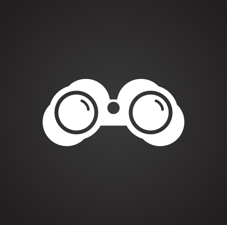 Binocular icon on background for graphic and web design. Simple vector sign. Internet concept symbol for website button or mobile app. Illustration