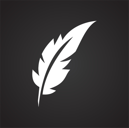 Feather icon on background for graphic and web design. Simple vector sign. Internet concept symbol for website button or mobile app. 免版税图像 - 123803058