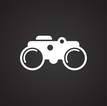 Binocular icon on background for graphic and web design. Simple vector sign. Internet concept symbol for website button or mobile app. Ilustrace