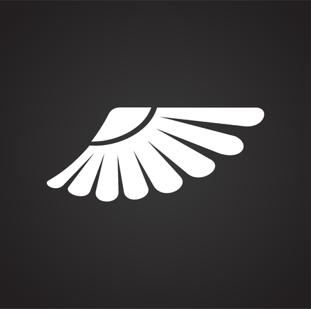Wing icon on white background for graphic and web design. Simple vector sign. Internet concept symbol for website button or mobile app. Illustration