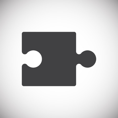 Puzzle icon on background for graphic and web design. Simple vector sign. Internet concept symbol for website button or mobile app. 向量圖像