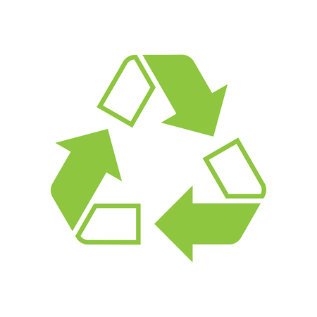 Recycling icon on background for graphic and web design. Simple vector sign. Internet concept symbol for website button or mobile app. Иллюстрация