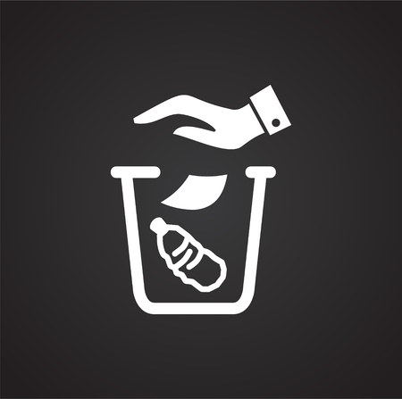 Garbage related icon on background for graphic and web design. Simple illustration. Internet concept symbol for website button or mobile app. Vectores