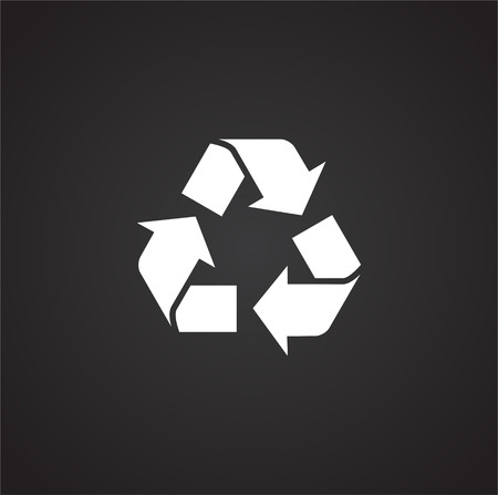 Garbage related icon on background for graphic and web design. Simple illustration. Internet concept symbol for website button or mobile app. 일러스트