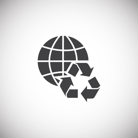Garbage related icon on background for graphic and web design. Simple illustration. Internet concept symbol for website button or mobile app. Illustration