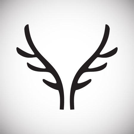 Dierlijke hoorn pictogram op de achtergrond voor grafisch en webdesign. Eenvoudig vectorteken. Internetconceptsymbool voor websiteknop of mobiele app. Vector Illustratie