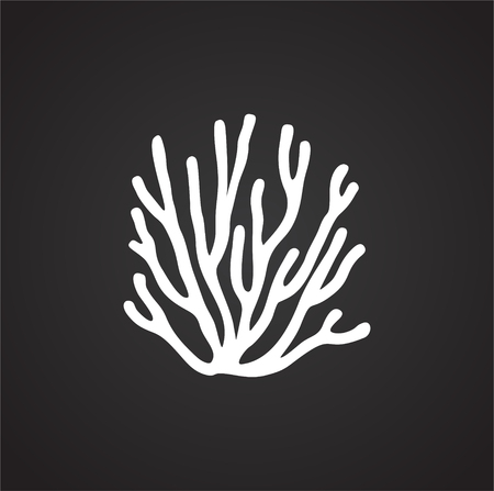 Coral icon on background for graphic and web design. Simple illustration. Internet concept symbol for website button or mobile app.