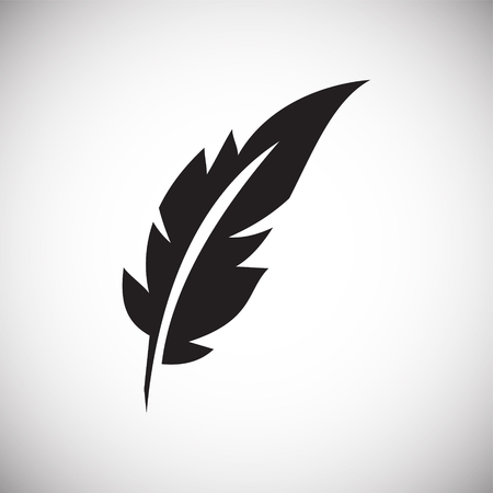 Feather icon on background for graphic and web design. Simple vector sign. Internet concept symbol for website button or mobile app. 免版税图像 - 123850063