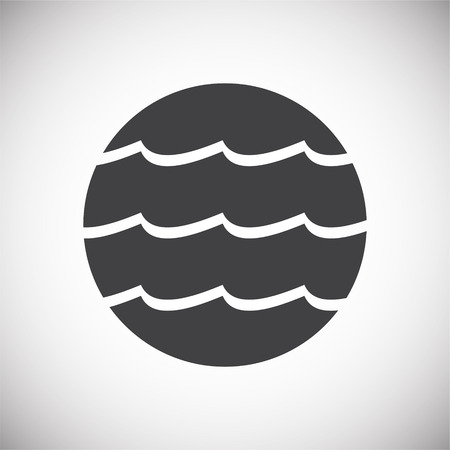 Wave icon on background for graphic and web design. Simple vector sign. Internet concept symbol for website button or mobile app.