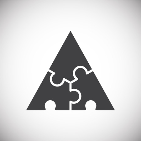 Icône de puzzle sur fond pour la conception graphique et web. Signe de vecteur simple. Symbole de concept Internet pour le bouton de site Web ou l'application mobile.