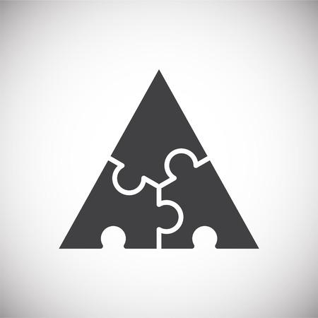Icona puzzle sullo sfondo per la progettazione grafica e web. Segno di vettore semplice. Simbolo del concetto di Internet per il pulsante del sito Web o l'app mobile.
