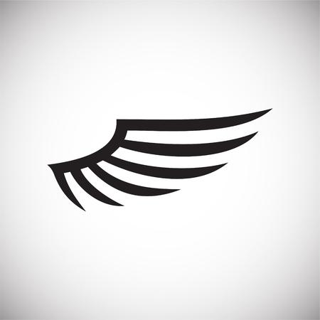 Icona ala su sfondo bianco per grafica e web design. Segno di vettore semplice. Simbolo del concetto di Internet per il pulsante del sito Web o l'app mobile.