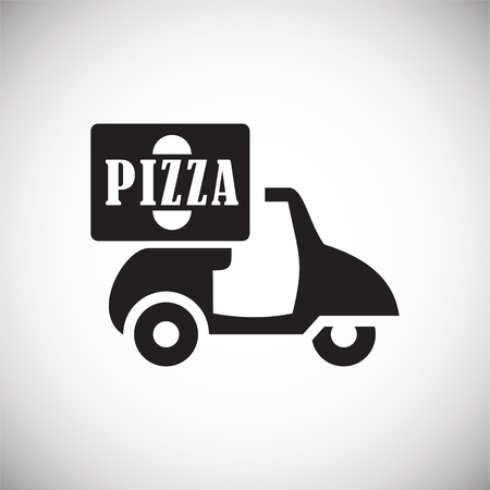 Pizza related icon on background for graphic and web design. Simple vector sign. Internet concept symbol for website button or mobile app. Stock Illustratie