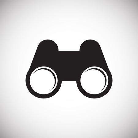 Binocular icon on background for graphic and web design. Simple vector sign. Internet concept symbol for website button or mobile app. Çizim