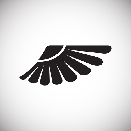 Wing icon on white background for graphic and web design. Simple vector sign. Internet concept symbol for website button or mobile app.  イラスト・ベクター素材