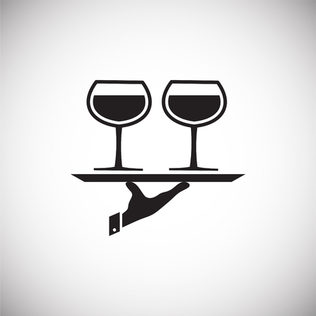 Wine related icon on background for graphic and web design. Simple vector sign. Internet concept symbol for website button or mobile app.